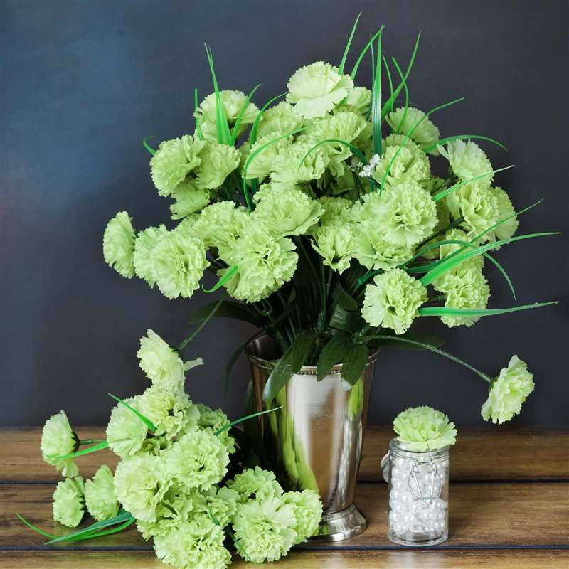 252 carnation flowers lime green silk flowers factory 252 carnation flowers lime green mightylinksfo Images