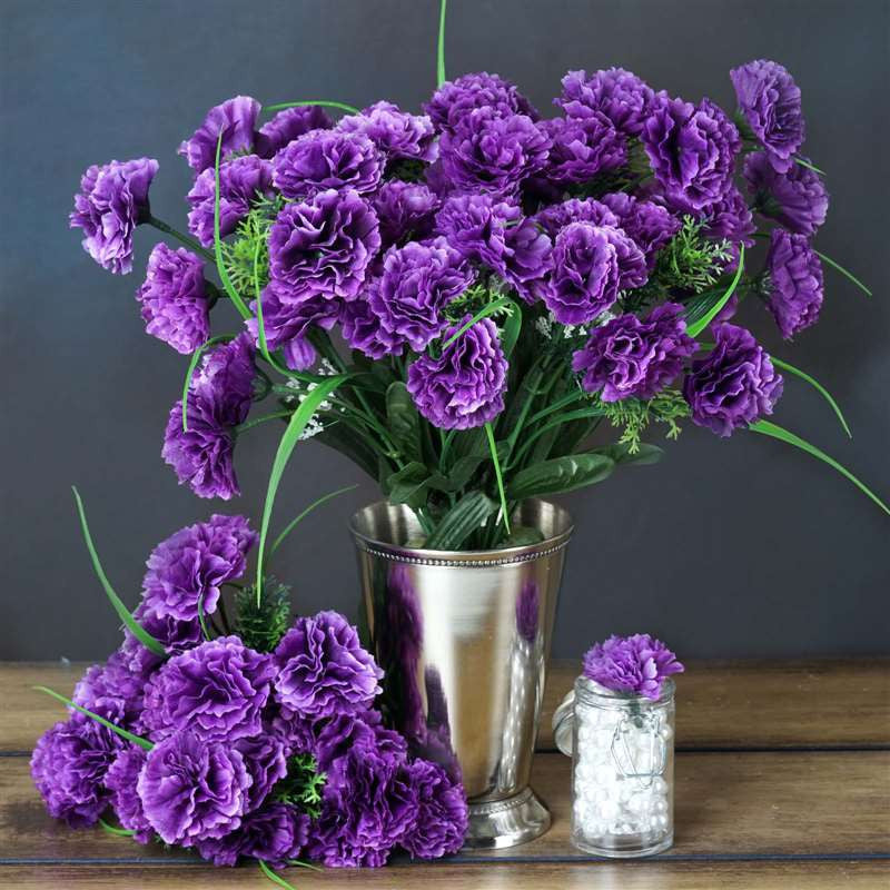 fake wedding flowers in bulk 252 carnation flowers purple silk flowers factory 4002