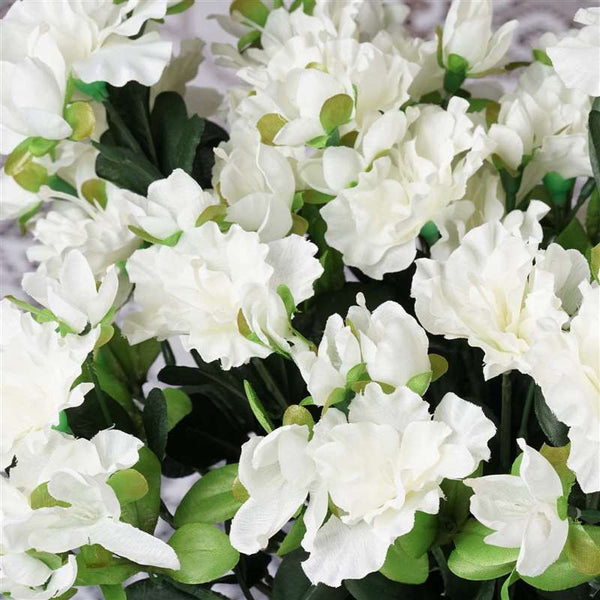 Gardenia Bush Artificial Silk Flowers - Cream