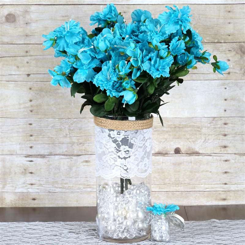 120 Undying Silk Gardenias Flowers - Turquoise