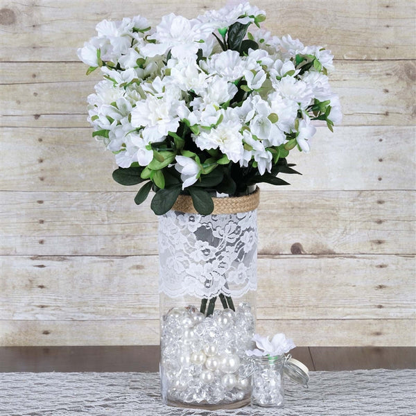 120 Undying Silk Gardenias Flowers - White