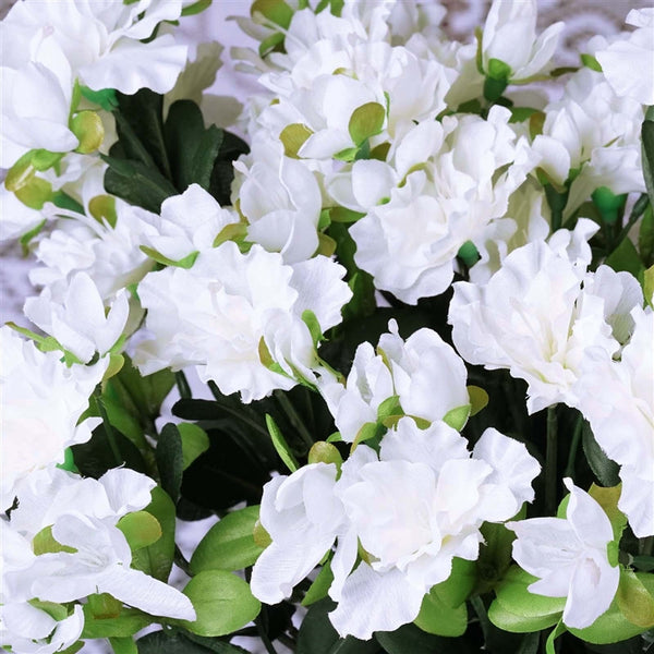 Gardenia Bush Artificial Silk Flowers - White