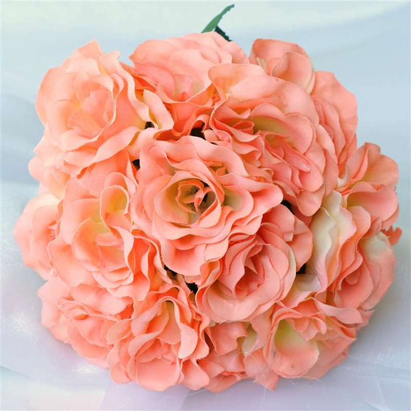 4 Velvet Rose Bouquet - Peach