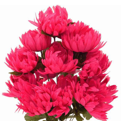 56 Artificial Fushia Giant Chrysanthemum Flowers Wedding Bridal Bouquet Centerpiece Decoration