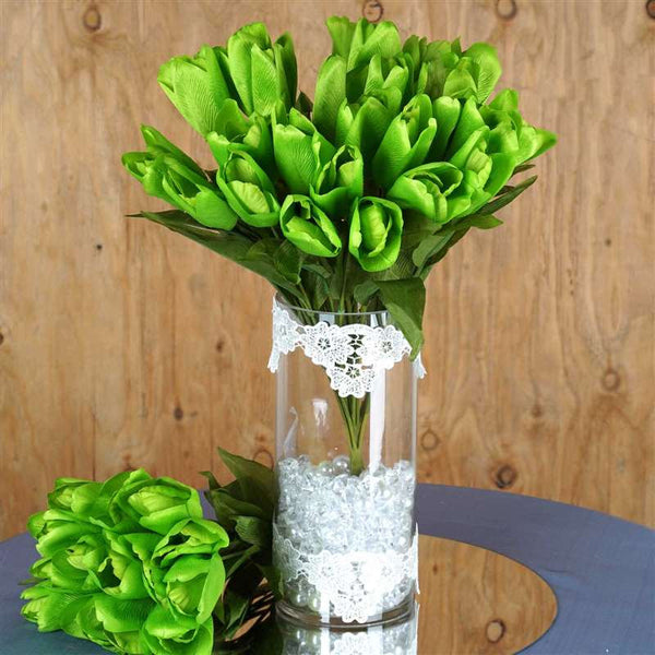 56 Tulip Flowers - Green