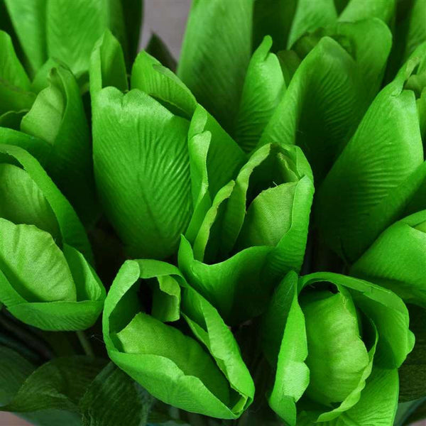 Tulip Bush Artificial Silk Flowers - Green