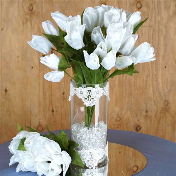 56 Tulip Flowers - White