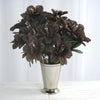 Daffodil Bush Artificial Silk Flowers - Chocolate