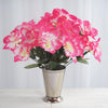Daffodil Bush Artificial Silk Flowers - Fuchsia