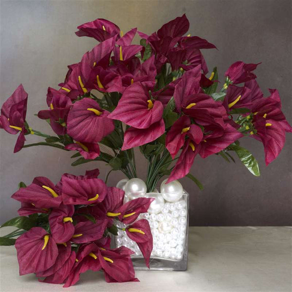 252 Mini Calla Lily - Burgundy
