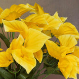 252 Wholesale Artificial Mini Calla Lilies Wedding Flower Vase Centerpiece Decor - Yellow( Sold Out )