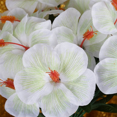 60 Silk Hibiscus Bush -White