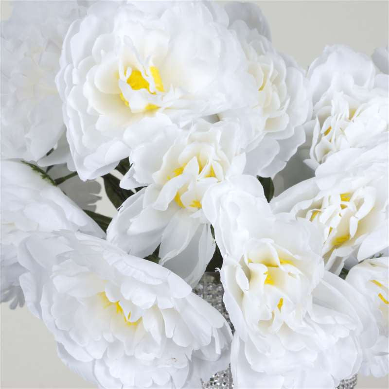 60 Silk Peony - White | Silk Flowers Factory