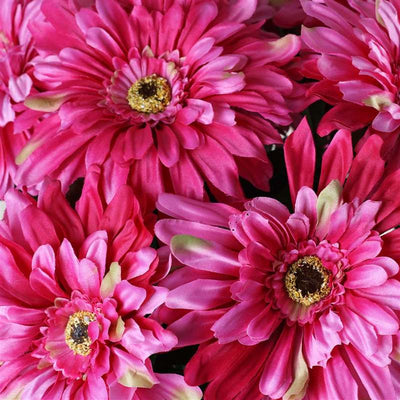 Gerbera Daisy Bush Artificial Silk Flowers - Fuchsia