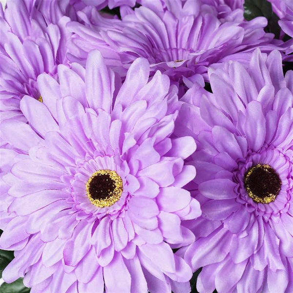 28 Gerbera Daisy Flowers Bush Wedding Vase Centerpiece Decor - Lavender