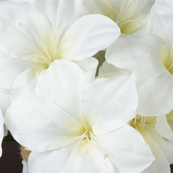 Eastern Lily Bush Artificial Silk Flowers - Cream