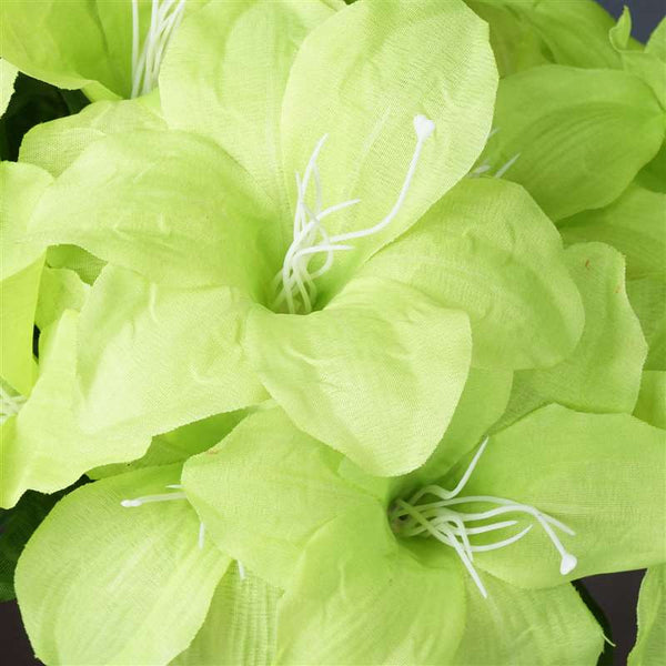 Eastern Lily Bush Artificial Silk Flowers - Lime Green