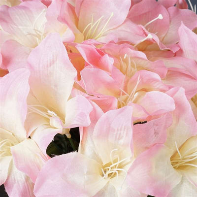 Eastern Lily Bush Artificial Silk Flowers - Pink