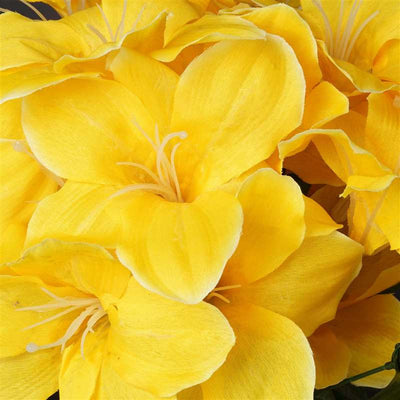Eastern Lily Bush Artificial Silk Flowers - Yellow