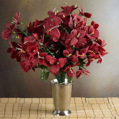 144 wholesale artificial silk amaryllis flowers wedding vase 144 silk amaryllis burgundy mightylinksfo