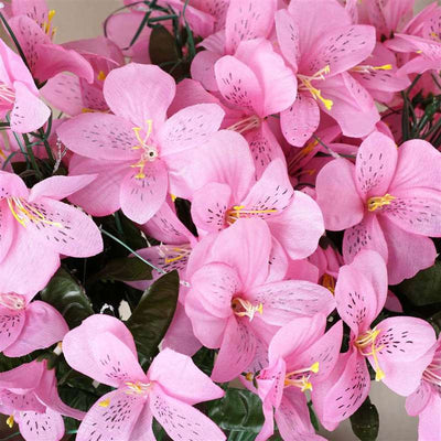 Amaryllis Bush Artificial Silk Flowers - Pink