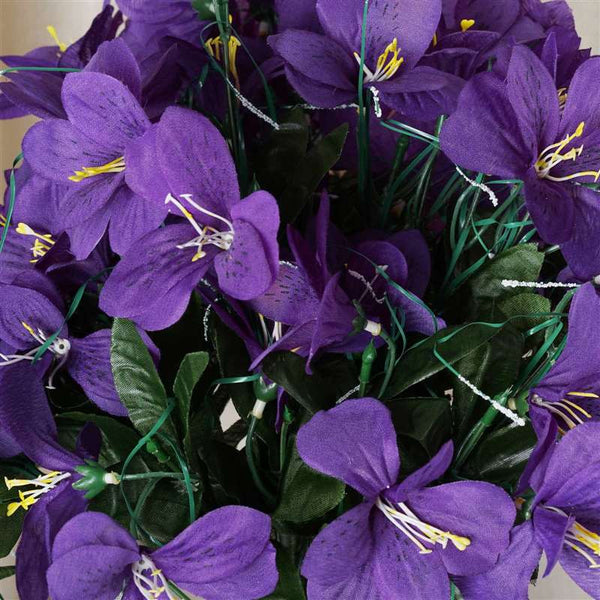 Amaryllis Bush Artificial Silk Flowers - Purple