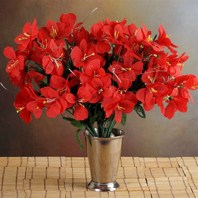144 wholesale artificial silk amaryllis flowers wedding vase 144 wholesale artificial silk amaryllis flowers wedding vase centerpiece decor red 144 silk amaryllis red mightylinksfo