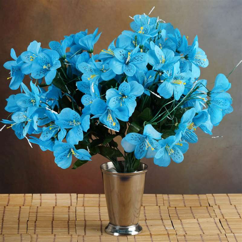 144 wholesale artificial silk amaryllis flowers wedding vase 144 silk amaryllis turquoise mightylinksfo