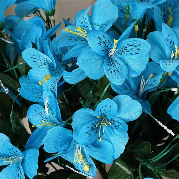 Amaryllis Bush Artificial Silk Flowers - Turquoise