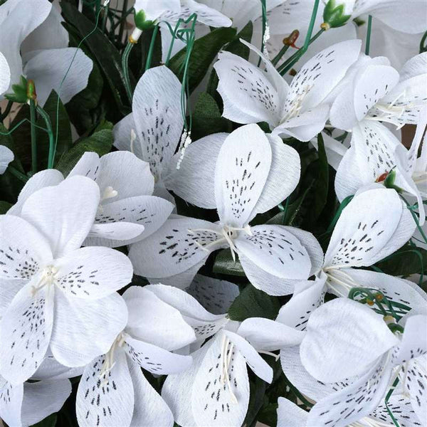 Amaryllis Bush Artificial Silk Flowers - White