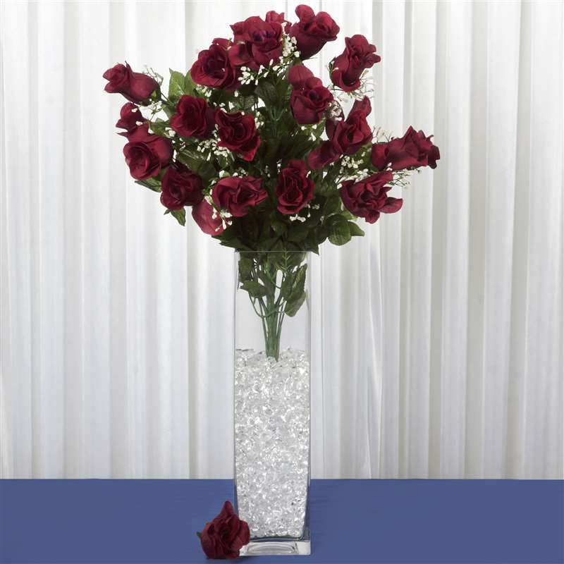Burgundy Centerpiece Mirrors : Wholesale artificial giant rose bud wedding bouquet