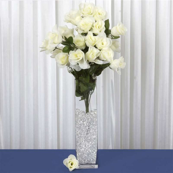96 Giant Rose Bud Bush - Cream