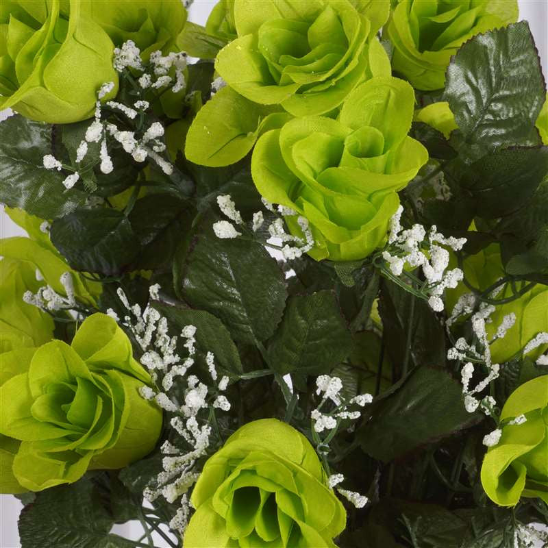 96 Wholesale Artificial Giant Rose Bud Wedding Bouquet Vase Centerpiece Decor - Lime
