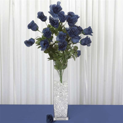 96 Giant Rose Bud Bush - Navy