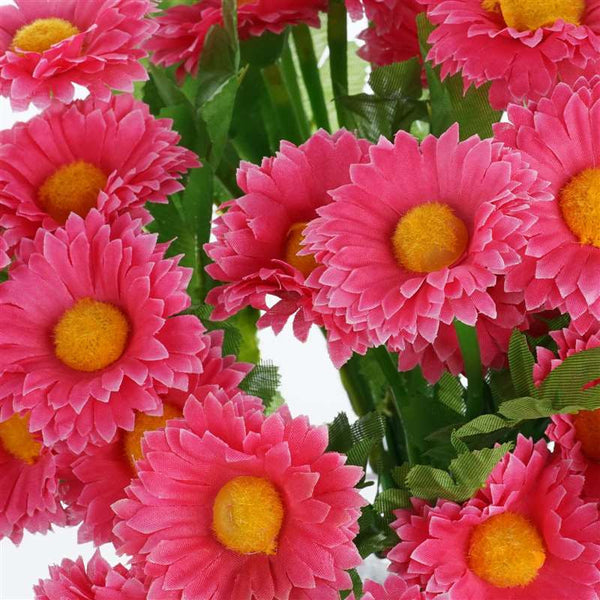 108 Wholesale Artificial Silk Daisy Flowers Wedding Vase Centerpiece Decor - Fushia