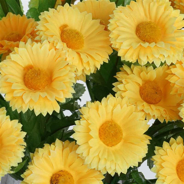 Common Daisy Bush Artificial Silk Flowers - Yellow