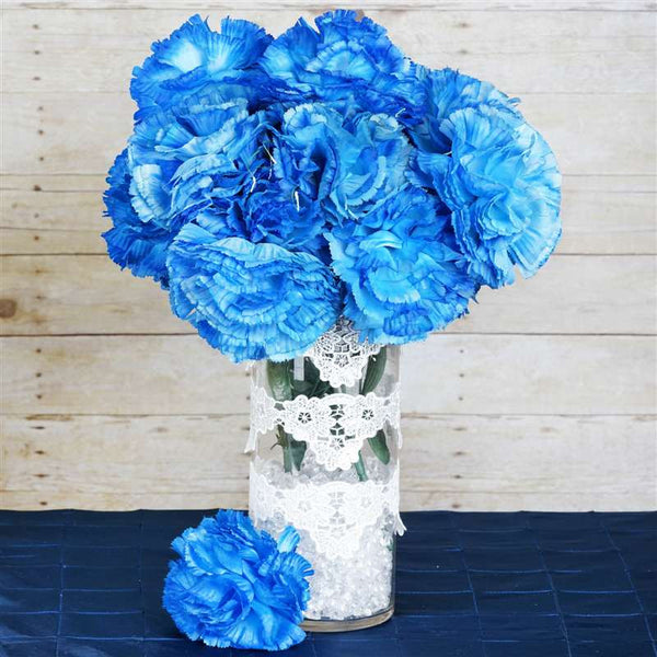 36 GIANT Your-Special-Day Carnations - New Blue