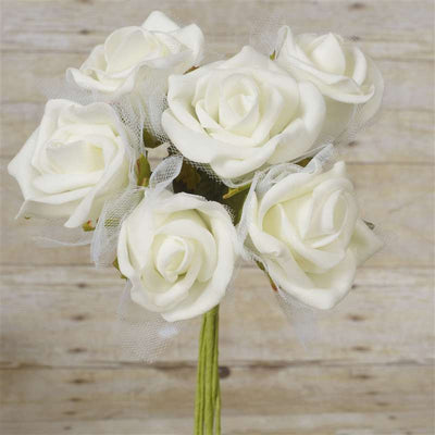 72 x SPECIAL EDITION Tres Beau Silk Roses - Cream