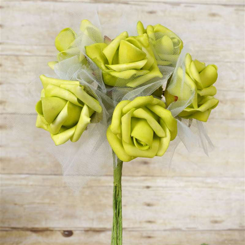 72 x SPECIAL EDITION Tres Beau Silk Roses - Lime