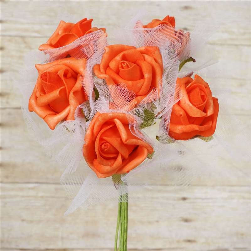 72 x SPECIAL EDITION Tres Beau Silk Roses - Orange