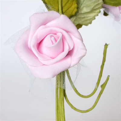 Premium Rose Bouquet Artificial Foam Flowers - Pink