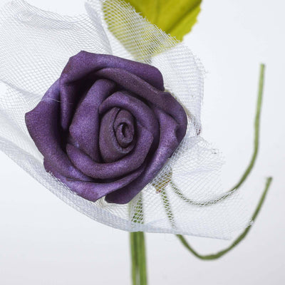 72 x SPECIAL EDITION Tres Beau Silk Roses - Purple