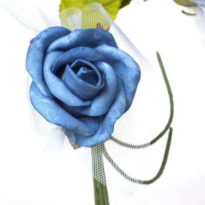 Premium Rose Bouquet Artificial Foam Flowers - Turquoise