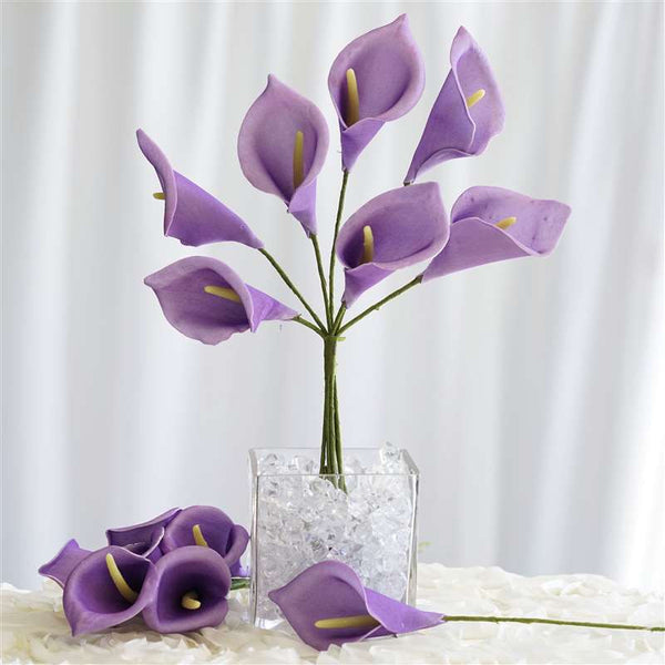 42 Artificial Lavender Giant Calla Lilies Flowers Wedding