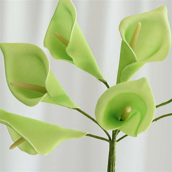 42 Artificial Lime Green Giant Calla Lilies Flowers Wedding Bridal Bouquet Centerpiece Decoration