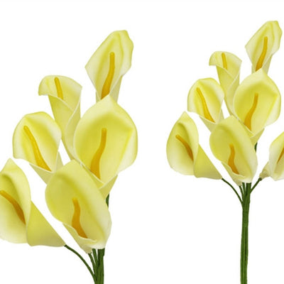 42 Artificial Giant Calla Lilies Wedding Flower Vase Centerpiece Decor - Light Green