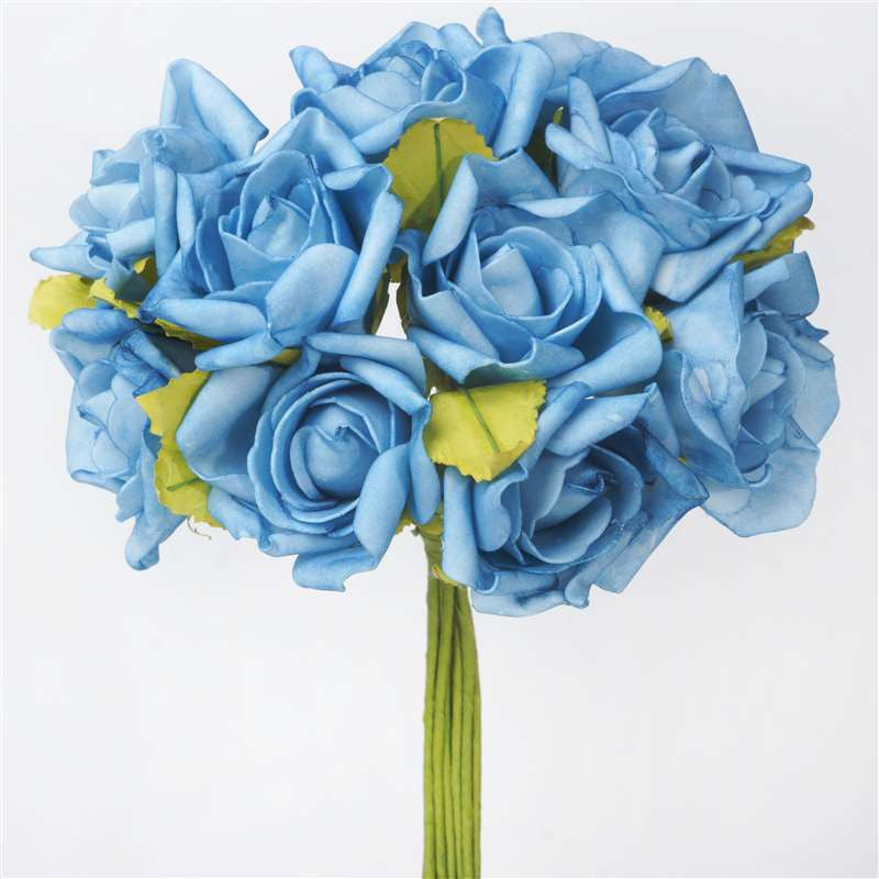 72 artificial silk roses bouquet wedding vase centerpiece decor 72 x blooming silk rose buds turquoise mightylinksfo