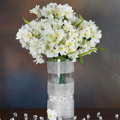 150 wholesale artificial oriental lily flowers bush wedding vase 150 oriental lily cream 150 wholesale artificial oriental lily flowers mightylinksfo