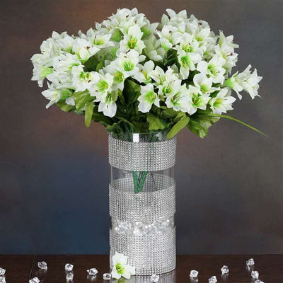 150 wholesale artificial oriental lily flowers bush wedding vase 150 oriental lily white 150 wholesale artificial oriental lily flowers mightylinksfo