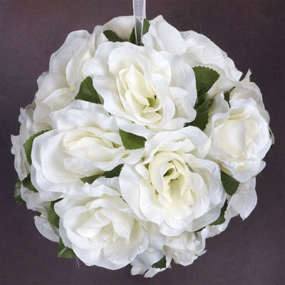 Rose Pomander Kissing Balls - Cream- 4 PCS